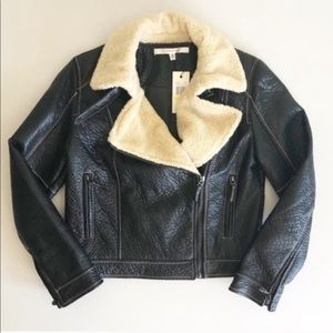 Studio M Josette Faux Leather Faux Fur Jacket